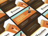Painter Business Card Template Free Painter Decorator Business Card Template for Photoshop