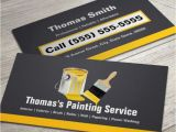 Painter Business Card Template Free Professional Painting Service Painter Paint Brush Business