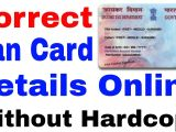 Pan Card form Name Change How to Correction Pan Card Online L How to Correct Pan Card Online L Correct Name In Pan Card Online