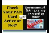 Pan Card Verify by Name Check Your Pan is Active or Not Govt Rejected 11 44 Lakh Pan Cards