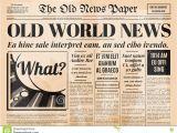 Paper Ad Design Templates Old Newspaper Design Vector Template Stock Vector