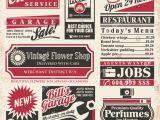 Paper Ad Design Templates Retro Newspaper Ads Design Template Vector Stock Vector