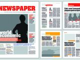 Paper Ad Design Templates Typesetting Newspaper Vector Templates 02 Vector