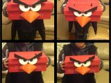 Paper Bag Valentine Card Holder Angry Bird Valentines Box Made Using A Shoe Box Paper Bag