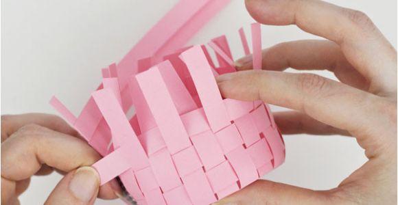 Paper Basket Weaving Template Free Woven Paper Easter Basket Template Tutorial