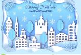 Paper Card Happy New Year Christmas and Happy New Year Card Stock Vector