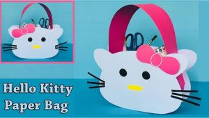 Paper Card Kaise Banate Hai Diy Hello Kitty Paper Bag How to Make A Paper Bag Easy and Cute Paper Gift Bag
