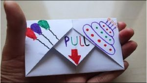Paper Card Kaise Banate Hain Diy Pull Tab origami Envelope Card Letter Folding origami Birthday Card Greeting Card