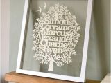 Paper Cut Family Tree Template Bespoke Family Tree Paper Cut Template Hand Cut Your Own