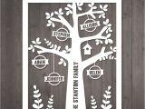 Paper Cut Family Tree Template Diy Family Tree Papercut Template Personalised Family Tree