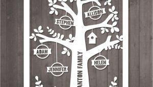 Paper Cut Family Tree Template Diy Family Tree Papercut Template Personalised Family Tree