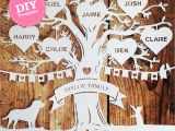 Paper Cut Family Tree Template Diy Family Tree Papercutting Template Papercut Your Own
