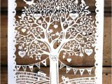 Paper Cut Family Tree Template Family Tree First Wedding Anniversary Papercut Template