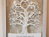 Paper Cut Family Tree Template Family Tree Papercut for 4 Names Template by Babyfaceart