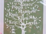 Paper Cut Family Tree Template Family Tree Template Family Tree Template Etsy
