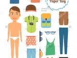 Paper Dress Up Dolls Template Boy Paper Dolldress Up Clipart