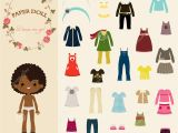 Paper Dress Up Dolls Template Dress Up Paper Doll with Body Template Stock Vector