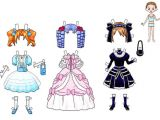 Paper Dress Up Dolls Template Paper Doll Dresses Printable Dress Up Paper Doll