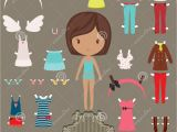 Paper Dress Up Dolls Template Paper Doll Outfits Stock Photo Image 36574600