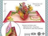 Paper Flower Pop Up Card Flower Pot Pop Up Die Set with Images Pop Up Flower