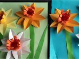 Paper Flower Pop Up Card Paper Narcissus