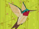 Paper Hummingbird Template Humming Bird by Quiltartdesigns Craftsy