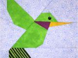 Paper Hummingbird Template Hummingbird Paper Pieced Block Pattern In Pdf