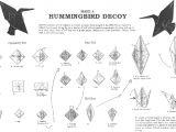 Paper Hummingbird Template origami Hummingbird Step by Step origami Hummingbird