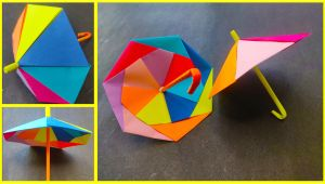 Paper Ka Card Kaise Banaye Learn How to Make Umbrella with Paper Paper Craft Diy