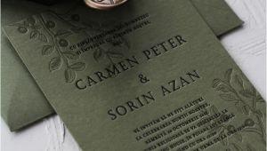 Paper Marriage for Green Card Invitatie Letterpress Carmen sorin Hochzeitseinladung