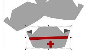 Paper Nurse Hat Template Paper Cap Template Paper Loving Critter Nurse Cap Shape