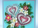 Paper Quilling Card for Boyfriend Valentine Quilling Card Valentine S Day Quilling Card