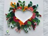 Paper Quilling Card for Teacher Quilling Friendship Day Gift original Love Heart Couple