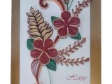 Paper Quilling Flower Card Design Handmade Paper Quilling Happy Birthday Greeting Card with