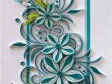 Paper Quilling Flower Card Design Neli Quilling Art Quilling Card 14 8 Cm 10 5 Cm