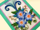 Paper Quilling Flower Card Design Paper Quilling Card D How to Make Beautiful Quilling Flowers