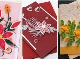 Paper Quilling Flower Card Design Very Beautiful Paper Quilling Patterns for Greeting Cards Quilling Greeting Card Designs