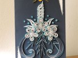 Paper Quilling New Year Card something for New Year