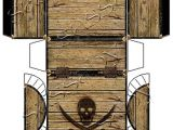 Paper Treasure Chest Template Pirate 39 S Treasure Chest Box Instant Download Printable