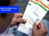 Paper Used to Print Aadhar Card How to Update or Correct Your Aadhaar Card Details Easy