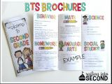 Parent Brochure Templates Back to School Meet the Teacher Open House Brochure