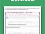 Parent Child Behavior Contract Template Download Parent Child Behavior Contracts the O 39 Jays