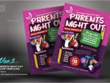 Parent Night Flyer Template Parents Night Out Flyer Templates by Kinzishots Graphicriver