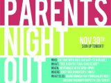Parent Night Flyer Template Parents Night Out Google Search Compass Ideas