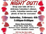 Parent Night Flyer Template Parents Night Out Valentine Sample Flier Serving