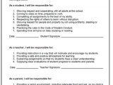 Parent Student Contract Template Behavior Contract Elementary Power Trio