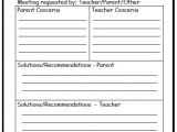 Parent Teacher Meeting Report Template This Template for Parent Meeting Notes Helps to Keep