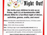 Parents Night Out Flyer Template Free Fun Things to Do with Kids In Chester County Parents
