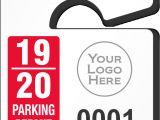 Parking Permit Templates Mini Parking Permit Mirror Tags