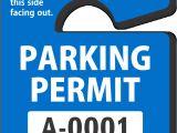 Parking Permit Templates Parking Hang Tags Design Online at Myparkingpermit